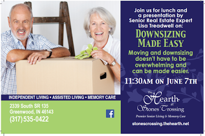 "Free ""How To"" Lunch Seminar in Greenwood: Downsizing Made Easy for Adults 55+/Decluttering Advice: June 7, 2016"