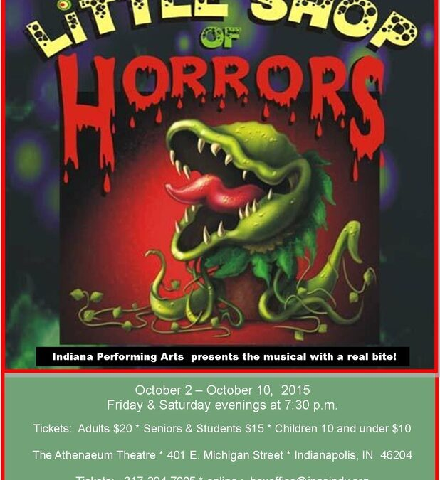 "Senior Discounts at Indiana Performing Arts Centre for ""Little Shop of Horrors"" and ""Broadway Rat Pack"""