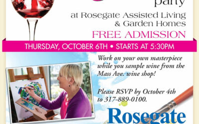 Wine & Canvas Party Thursday Oct. 6 at Rosegate Assisted Living & Garden Homes
