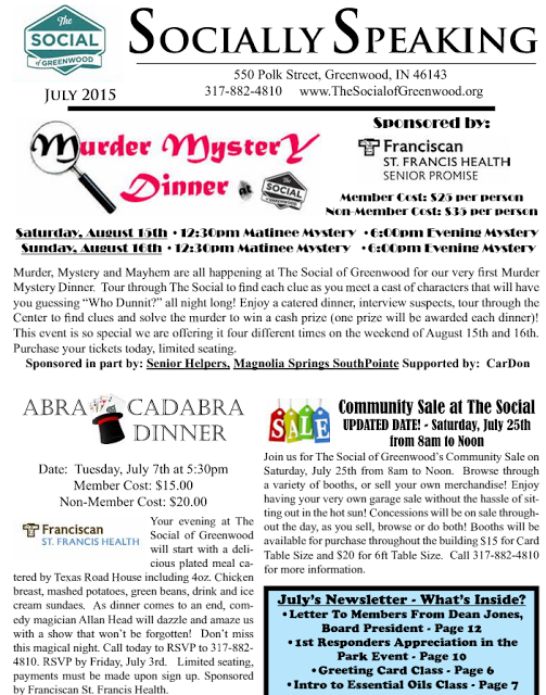 Greenwood, Indiana Community (Garage) Sale, Murder Mystery Dinner Theater, and Boxing Classes for Parkinson's Disease